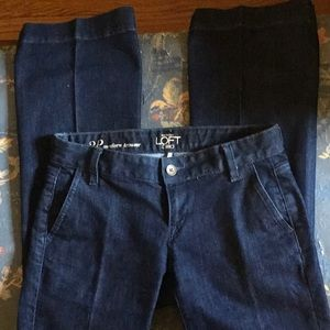 LOFT dark denim flare trouser jean